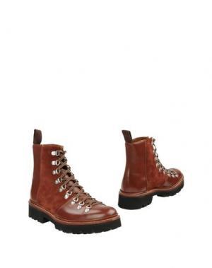 Полусапоги и высокие ботинки GRENSON. Цвет: коричневый