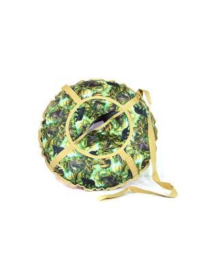 Санки надувные Ватрушка Метиз. Цвет: темно-зеленый, хаки