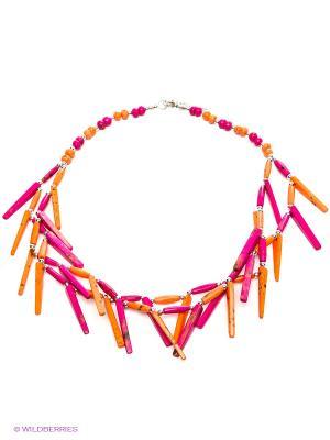 Ожерелье ГАНГ. Цвет: розовый, оранжевый