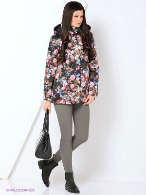 Куртка женская DIXI CoAT. Цвет: черный, розовый