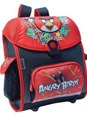 Ранец Euro box Angry Birds ортопедическая спинка EVA. Цвет: черный