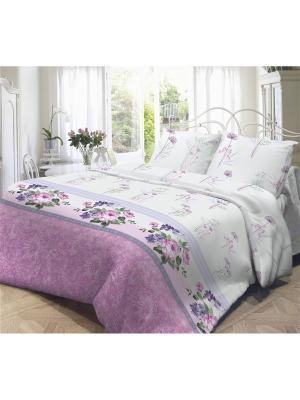 Комплект постельного белья 2,0-сп, НЕЖНОСТЬ, поплин 70*70см, Флоренция Волшебная ночь. Цвет: розовый, белый