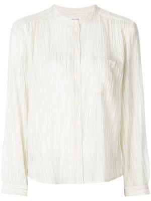 Блузка в полоску без воротника Masscob. Цвет: телесный