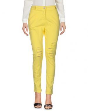 Повседневные брюки KIMIKA. Цвет: желтый