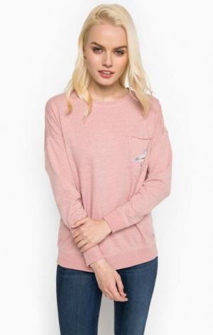 Свитшот с карманом розового цвета Mustang. Цвет: розовый