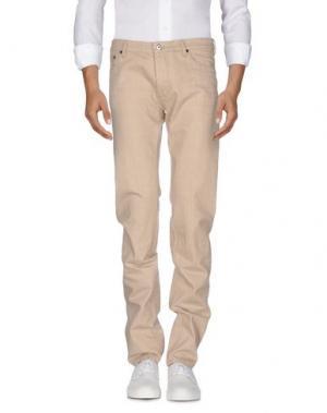 Джинсовые брюки VALENTINO. Цвет: песочный