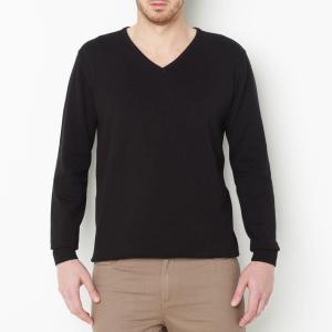 Пуловер из тонкого трикотажа с V-образным вырезом CASTALUNA FOR MEN. Цвет: зеленый