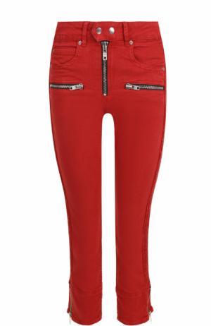 Укороченные однотонные джинсы-скинни Isabel Marant Etoile. Цвет: красный