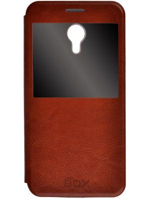 Чехол skinBOX Lux AW для Meizu M2 Note. Цвет: коричневый