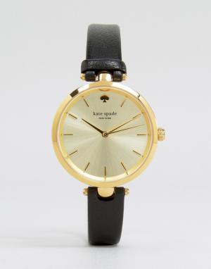 Kate Spade Часы с черным кожаным ремешком Holland 1YRU0811. Цвет: черный