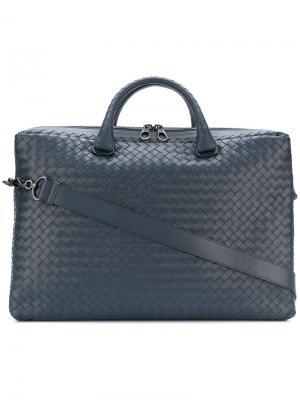 Intrecciato briefcase Bottega Veneta. Цвет: синий