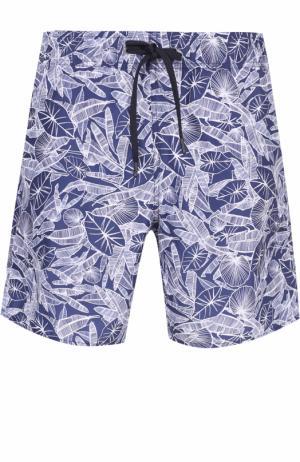 Плавки-шорты с принтом Z Zegna. Цвет: темно-синий