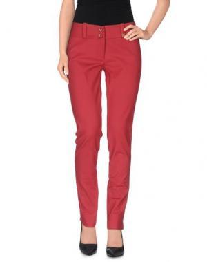 Повседневные брюки TRY ME. Цвет: красный