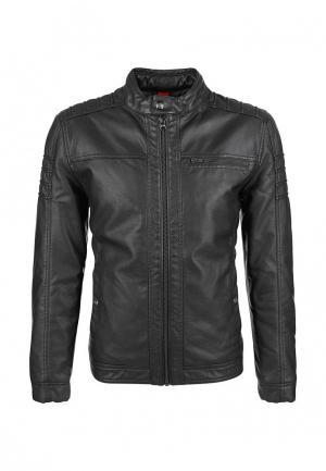 Куртка кожаная s.Oliver. Цвет: черный