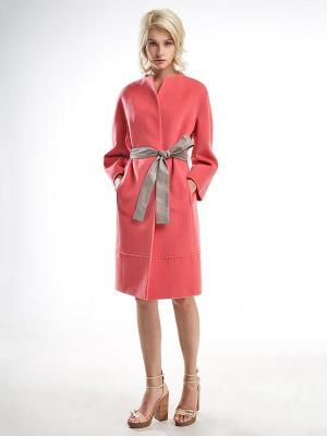Пальто Pompa. Цвет: оранжевый