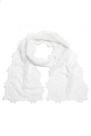 Кружевной шарф 157993 Plauener Spitze. Цвет: белый