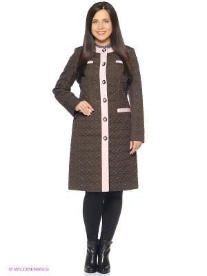 Пальто Brillare. Цвет: темно-коричневый