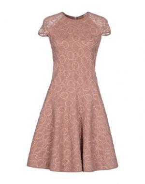 Короткое платье VICEDOMINI. Цвет: пастельно-розовый