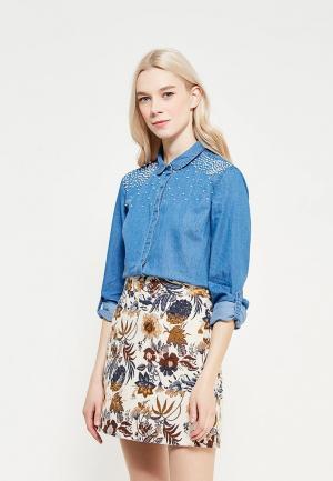Рубашка джинсовая Top Secret. Цвет: синий