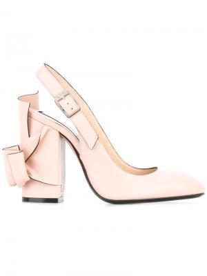 Туфли с бантом Nº21. Цвет: розовый и фиолетовый