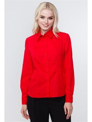 Рубашка VICTORIA VEISBRUT. Цвет: красный