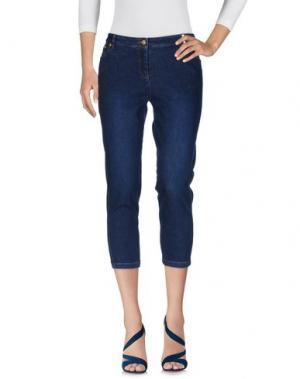 Джинсовые брюки-капри KENZO. Цвет: синий