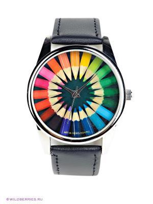 Часы Mitya Veselkov. Цвет: черный, зеленый, голубой, красный