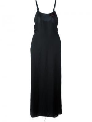 Длинное платье Arialong Damir Doma. Цвет: чёрный