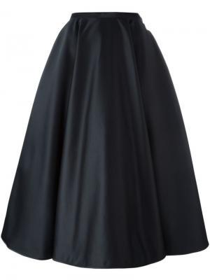 Плиссированная юбка А-образного кроя Nº21. Цвет: чёрный
