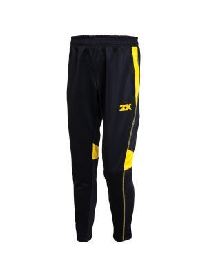 Брюки тренировочные Vettore 2K. Цвет: черный, желтый