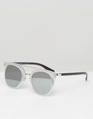 AJ Morgan Круглые солнцезащитные очки. Цвет: прозрачный