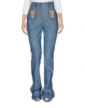 Джинсовые брюки MANOUSH. Цвет: синий