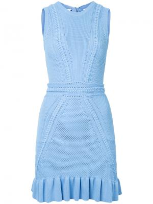 Платье ажурной вязки Majorca Rebecca Vallance. Цвет: синий