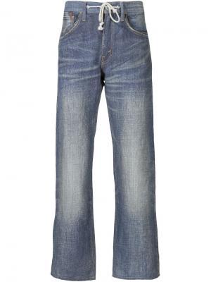 Джинсы с поясом на завязках Junya Watanabe Comme Des Garçons Man. Цвет: синий