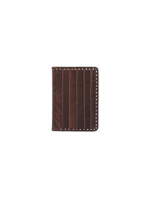 Обложка для паспорта Кажан. Цвет: коричневый