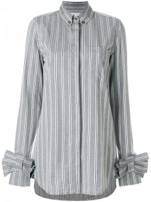 Рубашка с бантами на рукавах Victoria Beckham. Цвет: серый