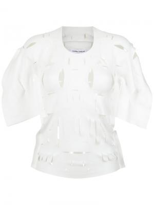 Cut out details blouse Gloria Coelho. Цвет: белый