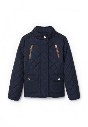 Куртка утепленная Mango Kids. Цвет: синий