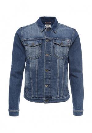 Куртка джинсовая Tommy Hilfiger Denim. Цвет: синий