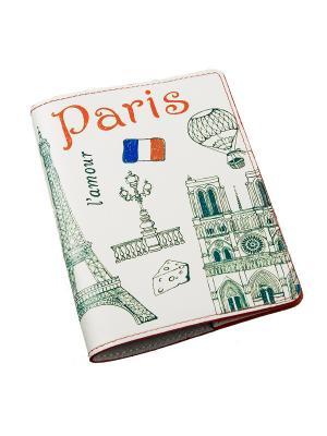 Обложка для паспорта BEFLER. Цвет: белый