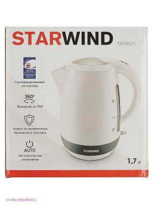 Чайник Starwind SKP4621 1.7л. 2000Вт белый (пластик). Цвет: белый