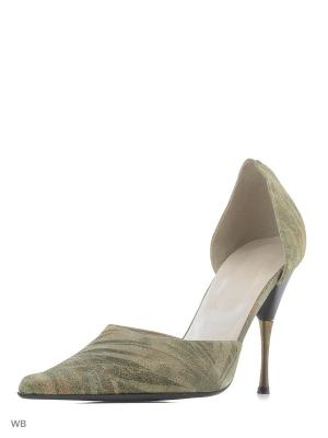 Туфли GIOTTO. Цвет: зеленый, коричневый