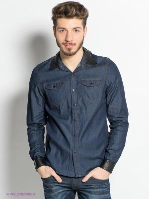 Рубашка TOM FARR. Цвет: темно-синий