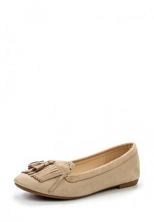 Балетки Max Shoes. Цвет: бежевый