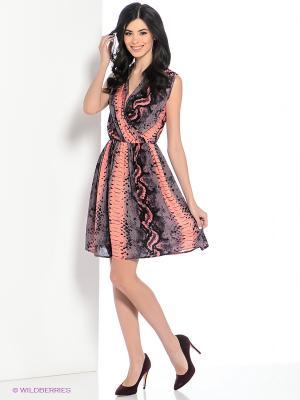 Платье Hammond. Цвет: бледно-розовый, черный