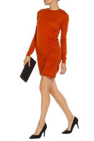 Легкое платье с длинным рукавом Joseph. Цвет: оранжевый
