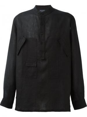Рубашка с карманами Letasca. Цвет: чёрный