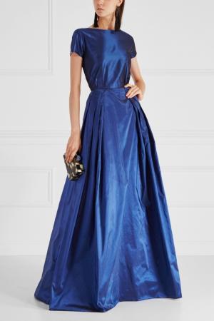 Шелковое платье Alexander Terekhov. Цвет: синий
