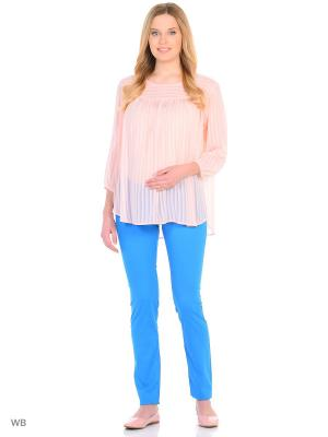 Блузка EUROMAMA. Цвет: розовый