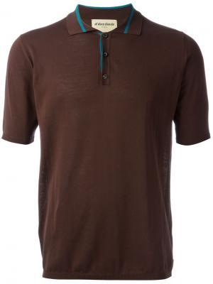 Трикотажная футболка-поло Al Duca D'Aosta 1902. Цвет: коричневый